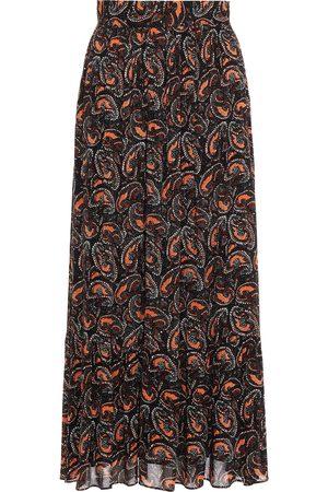 ANTIK BATIK Women Maxi Skirts - Woman Otto Gathered Printed Crepe Maxi Skirt Size 36