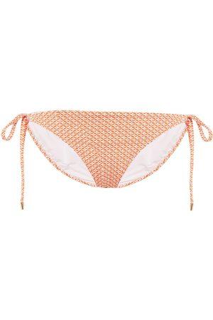MELISSA ODABASH Women Briefs - Woman Cancun Printed Low-rise Bikini Briefs Size 38
