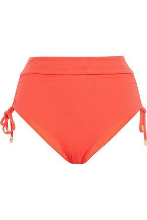 MELISSA ODABASH Women Briefs - Woman Thailand Ribbed High-rise Bikini Briefs Coral Size 40