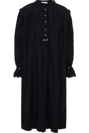 ANTIK BATIK Woman Peter Ruffle-trimmed Embroidered Cotton-broadcloth Dress Size 36