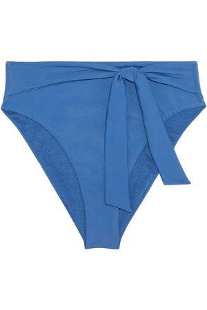 ONIA Women Briefs - Woman Anais Knotted High-rise Bikini Briefs Cobalt Size L