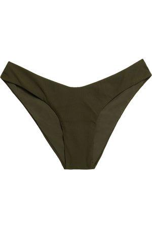 MELISSA ODABASH Woman Vienna Ribbed Low-rise Bikini Briefs Army Size 38