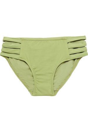 SEAFOLLY Women Briefs - Woman Mid-rise Bikini Briefs Sage Size 10