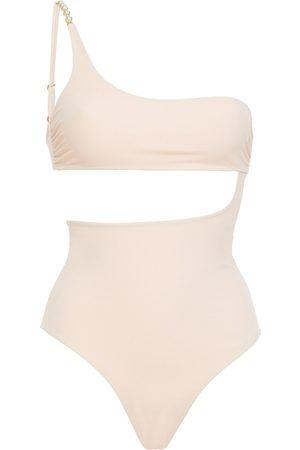 Stella McCartney Woman Cutout Embellished Swimsuit Blush Size L