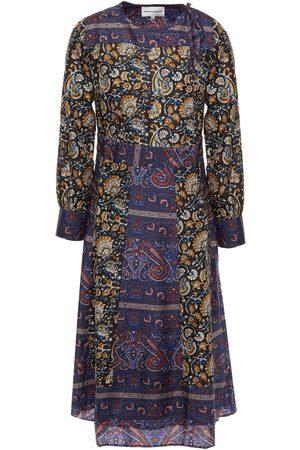 Antik Batik Women Printed Dresses - Woman Keith Paneled Printed Silk Crepe De Chine Dress Multicolor Size 36