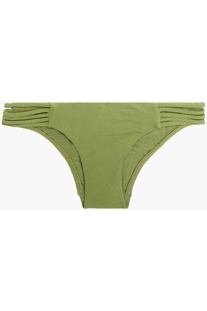 SEAFOLLY Women Briefs - Woman Active Multi Rouleau Low-rise Bikini Briefs Leaf Size 10