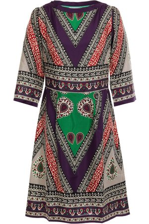 ANTIK BATIK Women Printed Dresses - Woman Oriana Printed Silk-satin Mini Dress Multicolor Size 36