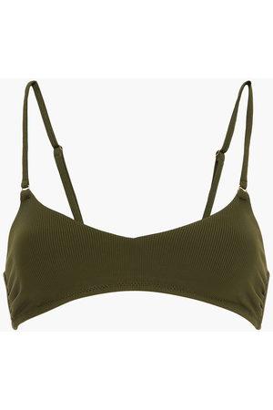 MELISSA ODABASH Women Bikinis - Woman Vienna Ribbed Bikini Top Army Size 38