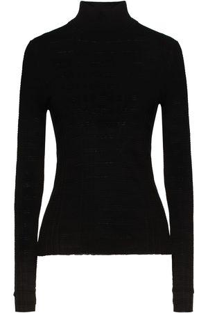 AUTUMN CASHMERE Women Turtlenecks - Woman Ribbed Cotton Turtleneck Sweater Size L
