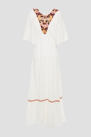 Antik Batik Woman Valentine Crinkled Cotton-gauze Midi Dress Size L