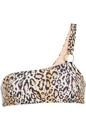 Melissa Odabash Woman Majorca One-shoulder Ring-embellished Bikini Top Animal Print Size 38