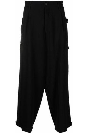 YOHJI YAMAMOTO Men Wide Leg Trousers - Drop-crotch wide-leg trousers