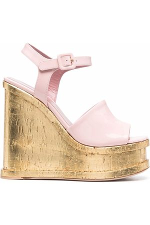 HAUS OF HONEY Lacquer Doll wedge sandals