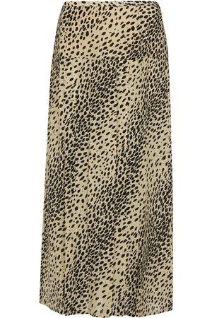 RIXO London Women Midi Skirts - Nancy animal-print silk midi skirt