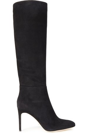 SERGIO ROSSI Women High Leg Boots - Woman Suede Knee Boots Size 35.5