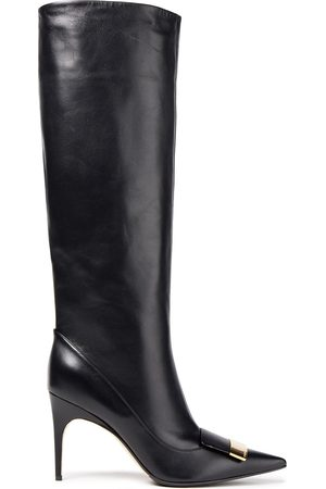 SERGIO ROSSI Women High Leg Boots - Woman Sr1 Leather Knee Boots Size 36