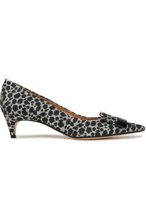 SERGIO ROSSI Women Heels - Woman Sr1 Metallic Leopard-print Woven Pumps Size 36