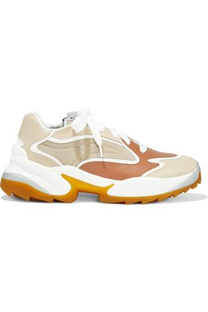 SERGIO ROSSI Women Trainers - Woman Sergio Extreme Leather And Neoprene Exaggerated-sole Sneakers Size 36