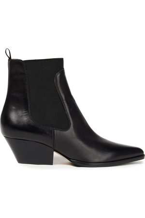 SERGIO ROSSI Women Ankle Boots - Woman Leather Ankle Boots Size 34
