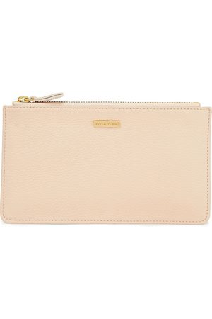 SERGIO ROSSI Woman Pebbled-leather Pouch Neutral Size