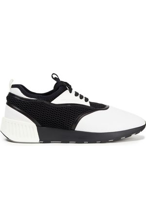 SERGIO ROSSI Women Trainers - Woman Leather And Mesh Sneakers Size 35