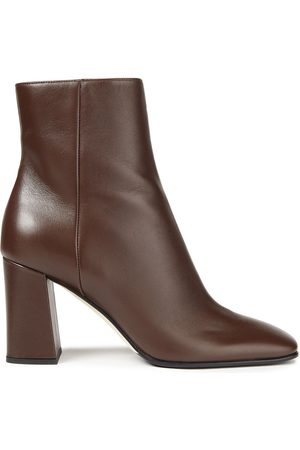 SERGIO ROSSI Women Ankle Boots - Woman Leather Ankle Boots Chocolate Size 36
