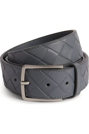 Bottega Veneta Leather Triangular Buckle Belt