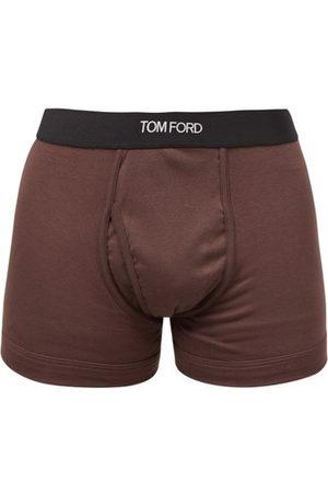 Tom Ford Logo-jacquard Cotton-blend Boxer Briefs - Mens