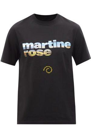 MARTINE ROSE Logo-print Cotton-jersey T-shirt - Mens