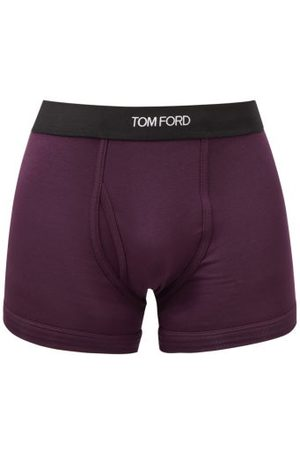 Tom Ford Logo-jacquard Cotton-blend Jersey Trunks - Mens