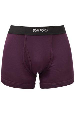 Tom Ford Men Briefs - Logo-jacquard Cotton-blend Jersey Trunks - Mens