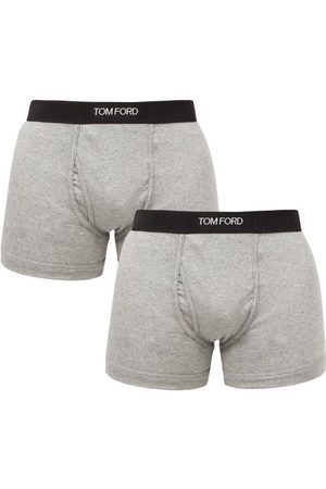 Tom Ford Pack Of Two Cotton-blend Boxer Briefs - Mens