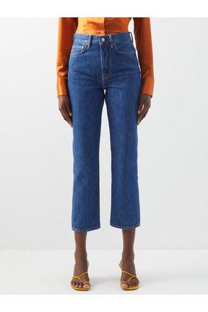 Acne Studios Mece High-rise Cropped Straight-leg Jeans - Womens - Denim