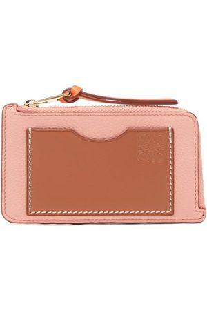 Loewe Zip-top Grained-leather Cardholder - Womens