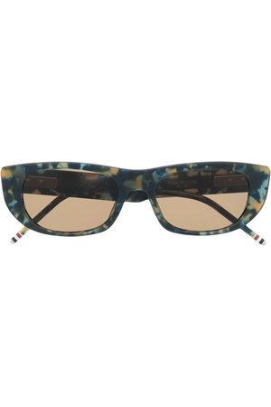 Thom Browne Eyewear Sunglasses - Tortoiseshell-effect rectangular-frame sunglasses