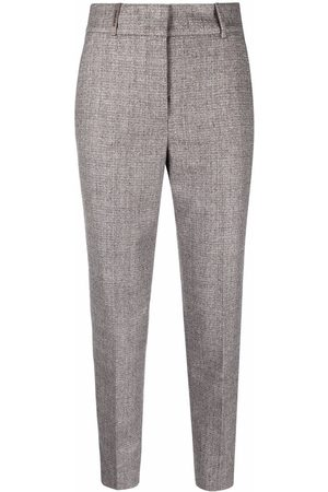 Peserico Women Formal Trousers - Cropped tailored straight-leg trousers