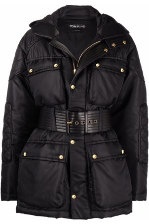 TOM FORD Women Jackets - Quilted belted hooded jacket