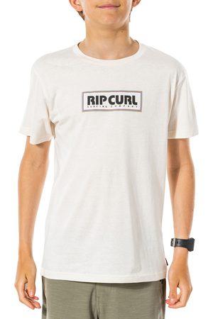 Rip Curl Boys Short Sleeve - Surf Revival Decal Boys Short Sleeve T-Shirt - Bone