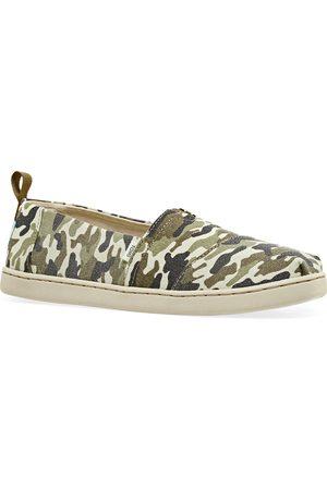 TOMS Casual Shoes - Camo Alpargata Kids Slip On Shoes - Olive