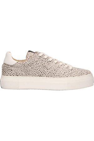 Maruti Ted hairon leather trainers, Title: OFFWHTBLK