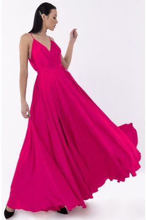 Angelika Jozefczyk Women Evening Dresses - Satin Long Fuchsia Evening Gown