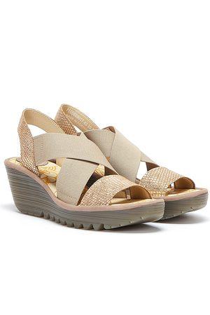 Fly London Yaji Womens / Gold Sandals
