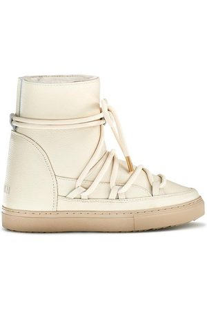 INUIKII Women Wedge Boots - Sneaker Full Leather Wedge Off- Boots