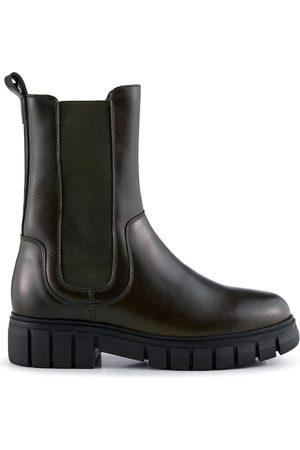 Shoe The Bear Rebel Chelsea High Khaki Leather Boot