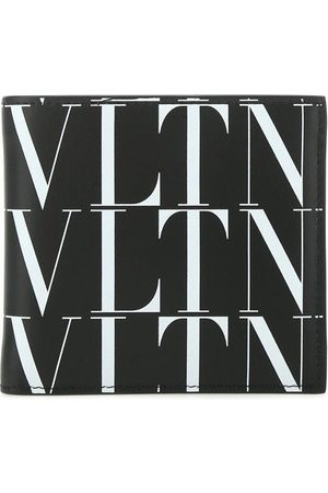 VALENTINO Logo Print Leather Bifold Wallet