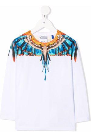 MARCELO BURLON Long Sleeve - Wings-print long-sleeved T-Shirt