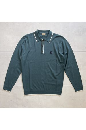 Gabicci Lineker Knitted Polo - Juniper