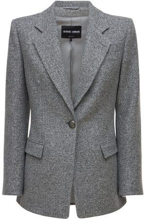 GIORGIO ARMANI Jacquard Wool & Cashmere Jacket
