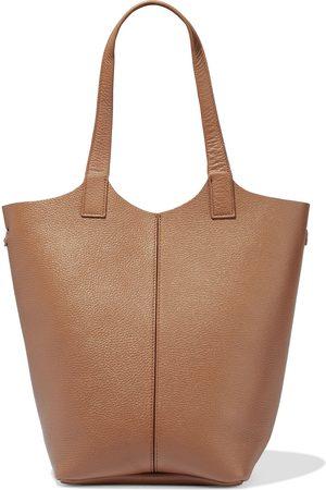 IRIS & INK Woman Amalie Textured-leather Shoulder Bag Size
