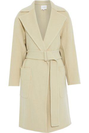 Vince Women Coats - Woman Wool-blend Felt Coat Sage Size L